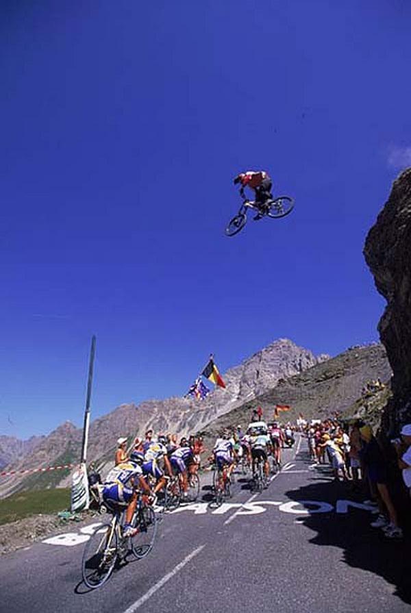 עקיפה מהירה בתחרות אופניים