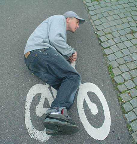 איש על אופניים