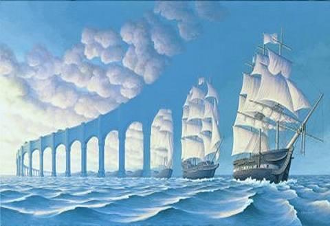 גשר או שורה של ספינות