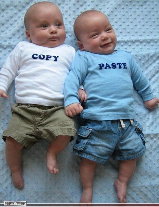תינוקות העתק והדבק