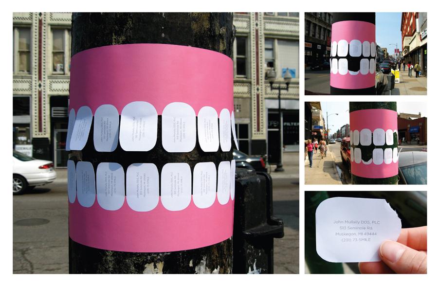 פרסומת על רופא שיניים