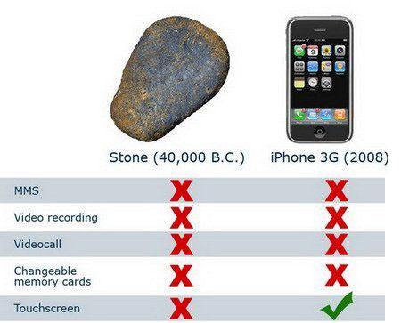 ההבדל בין ה-iPhone לאבן