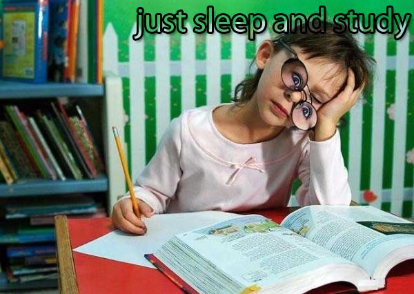 פשוט לישון וללמוד