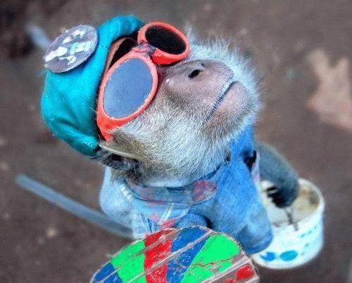 קוף אומנותי