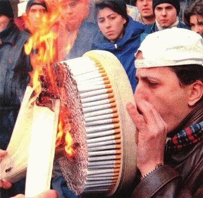 האיש שעישן הכי הרבה סיגריות