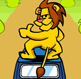 אריה על מכונית