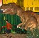 דינוזאור טי רקס בעיר