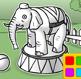 דף צביעה - פיל